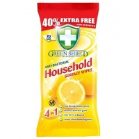 70 Antibacterial Household Surface Wipes Green Shield