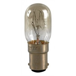 15 Watt Pygmy Fridge Light Bulb (Small Bayonet / SBC / B15)