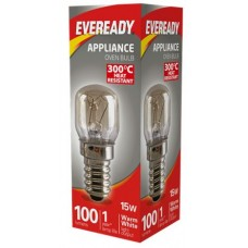 15W Pygmy Heat Resitant Oven Light Bulb Small Edison Screw / SES / E14