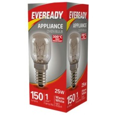 25W Pygmy Heat Resitant Oven Light Bulb Small Edison Screw / SES / E14