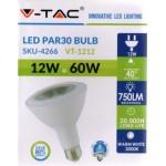12W (60 Watt) LED PAR30 Edison Screw Reflector Spotlight - Warm White