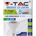 11W (95 Watt) LED PAR30 Edison Screw Reflector Spotlight (Natural White 4000K)