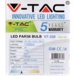 14W (120 Watt) PRO LED PAR38 Edison Screw Reflector Daylight White