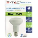 10W (75 Watt) LED R80 Edision Screw Reflector Spotlight (Warm White)