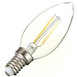 2W (25W) LED Filament Candle - Small Edison Screw in Warm White