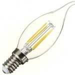 4W (40W) LED Flame Tip Candle - Small Edison Screw in Warm White