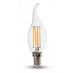 4W (40W) LED Flame Tip Candle - Small Edison Screw in Daylight