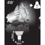 4W (35W) Retrofit High Power LED GU10 Low Energy Saving Spotlight (Daylight)