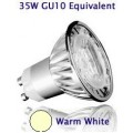 4W (35W) Retrofit High Power LED GU10 Low Energy Saving Spotlight (Warm White)
