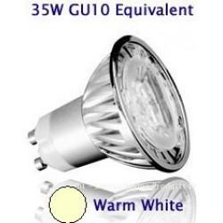 4W (35W) Retrofit High Power LED GU10 Low Energy Saving Spotlight (Warm White)
