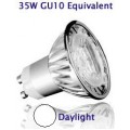 4W (35W) Retrofit High Power LED GU10 Low Energy Saving Spotlight (Daylight)
