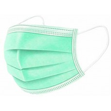 10 x Green Disposable Face Masks 3 Ply Surgical Face Covers