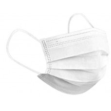 10 x White Disposable Face Masks 3 Ply Surgical Face Covers