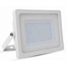 100W Slim Premium LED Floodlight - Warm White (White Case)