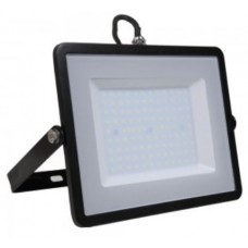 100W Slim Pro LED Floodlight Cool White (Black Case)