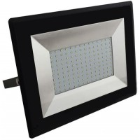 100W Slimline Premium SMD LED Floodlight Warm White (Black Case)