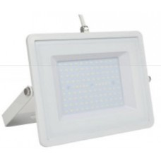 100W Slim LED Security Floodlight Warm White (White Case) VT-49101 / 5970