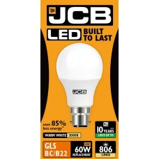 10W (60W) LED GLS Bayonet Light Bulb Warm White