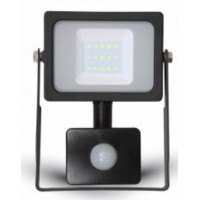 10W LED Motion Sensor Floodlight Cool White 4000K (Black Case)