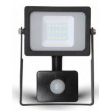 10W Premium LED Motion Sensor Floodlight - Natural 4000K (Black Case)