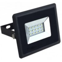 10W Slim LED Floodlight Cool White (Black Case)