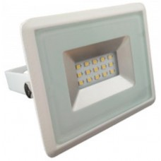 10W Slim LED Floodlight Warm White (White Case)