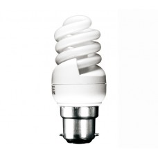 11w (60w) Bayonet Ultra Mini Low Energy Light Bulb (Warm White)