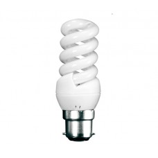 11w Bayonet Extra Mini Low Energy Spiral Light Bulb (Warm White)