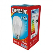 14W (100W Equiv) LED GLS Bayonet Light Bulb Daylight White by Eveready