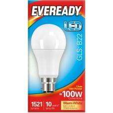 14W (100W) LED GLS Bayonet Light Bulb Warm White by Eveready