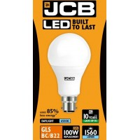 15W (100W) LED GLS Bayonet Light Bulb - Daylight White (6500K)