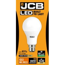 15W (100W) LED GLS Bayonet Light Bulb Warm White 3000K by JCB