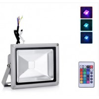 20W LED Floodlight RGB Colour Changing With Remote