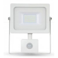 20W Slimline Motion Sensor LED Floodlight Natural Cool White 4000K (White Case)