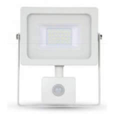 20W Slim Motion Sensor LED Floodlight Cool White 4000K (White Case)