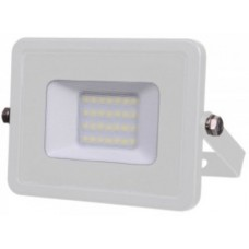 20W Slim LED Floodlight Cool White (White Case)