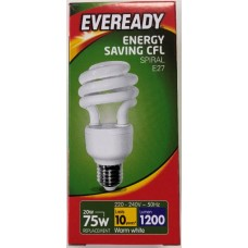 20w (75W) Edison Screw CFL Light Bulb Warm White