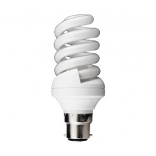 25w (120w) Bayonet / BC Mini CFL Spiral Light Bulb in Daylight White