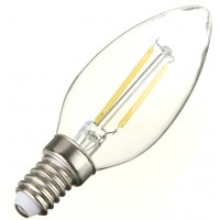 2W (25W) LED Filament Candle Small Edison Screw in Warm White