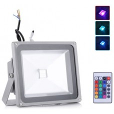 30W LED Floodlight RGB Colour Changing With Remote