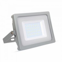 30W Slimline Premium High Lumen LED Floodlight Daylight White (Grey Case)