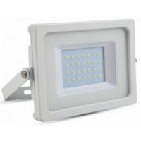 30W Slimline Premium High Lumen LED Floodlight Daylight White (White Case)