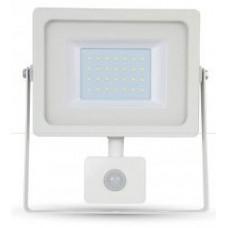 30W Slim PIR Motion Sensor LED Floodlight Daylight White