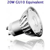 3W (20W) High Power LED GU10 Spotlight Cool White