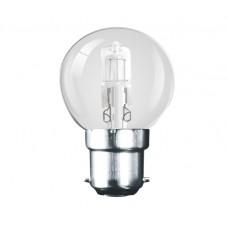 42W (60W Equiv) Bayonet Halogen Low Energy Golf Ball Light Bulb