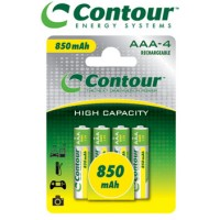 4 Pack AAA Contour 850 mAh Rechargeable Batteries