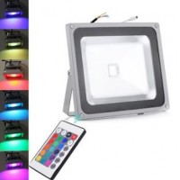 50W LED Floodlight RGB Colour Changing With Remote