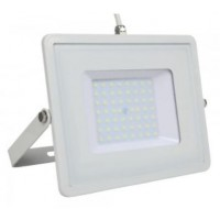 50W Slim PRO LED Security Floodlight Warm White (White Case)