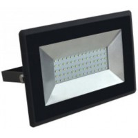50W Slim LED Floodlight Cool White 4000K Black Case