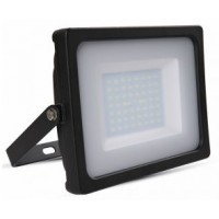 50W Slim LED Floodlight Cool White (Black Case)